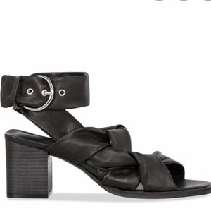 All Saints Miran Leather Strappy Heeled Sandal